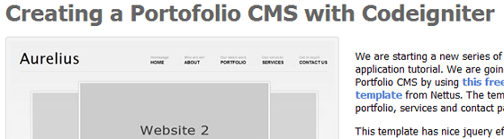 5 Tutorials On 'How To Create Cms With Codeigniter From