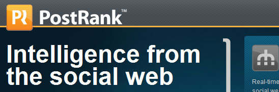 PostRank---Intelligence-from-the-social-web
