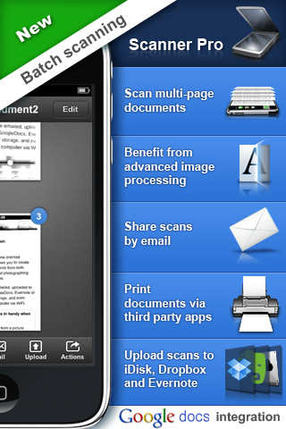 Scanner Pro iphone app screenshot