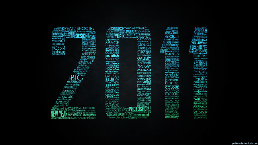 2011 Typographic wallpaper RGB by ~Yurik86