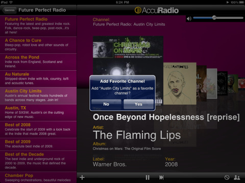 AccuRadio is a new FREE Internet radio app for the iPhone