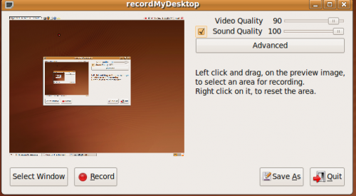 How to Create Screencast with recordMyDesktop in ubuntu 9.04