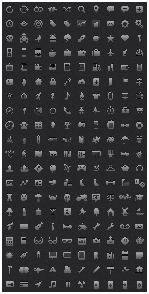 Icons for mobile apps ready for iphone4