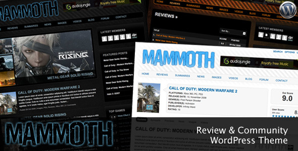 Mammoth - Review & Community WordPress Theme