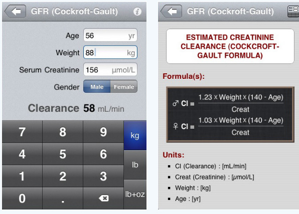 MedCalc (medical calculator) By Mathias Tschopp & Pascal Pfiffne