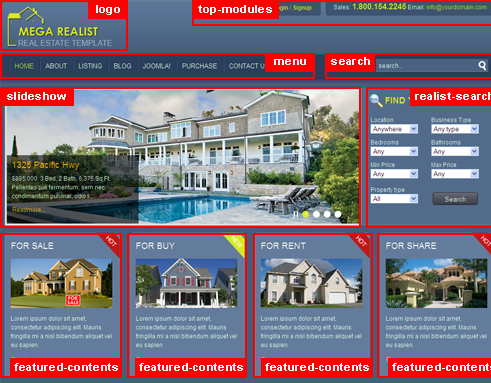 Mega Realist - The powerful Real Estate website for joomla 1.5