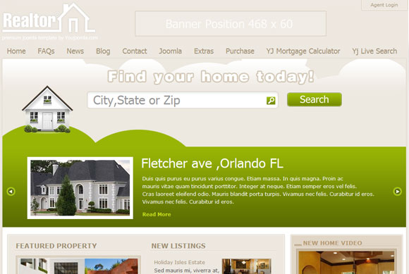 Realtor - Joomla Real Estate Template