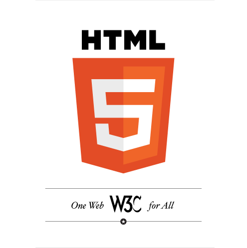 html 5 logo official by w3c