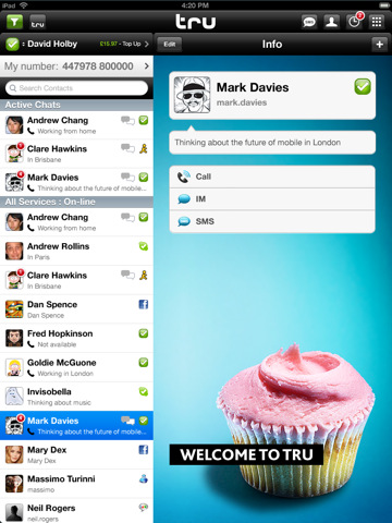 Truphone for iPad By Truphone