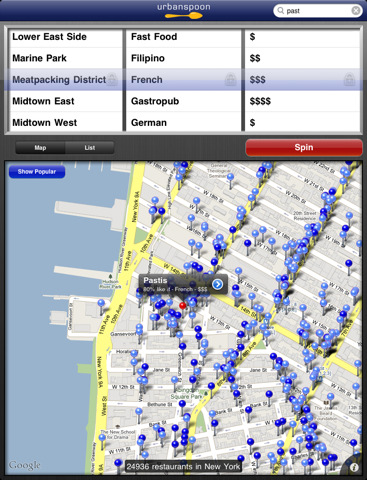 Urbanspoon for iPad By Urbanspoon