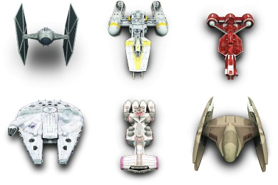 Star Wars Vehicles Icons by Archigraphs (8 icons)