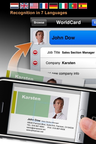 4 useful business card scanner apps for iphone enfew business cards or email signatures superior reheart Choice Image