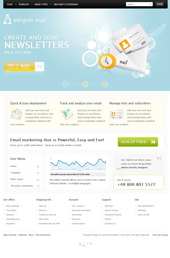 7 Creative Business Templates For Joomla 1.6 - Enfew