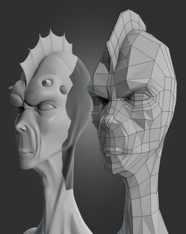 Character Head Modeling In Blender : Character modeling tutorials for ds max enfew