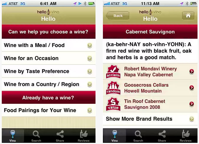 Hello Vino - Wine Recommendations By By Drive Thru Interactive