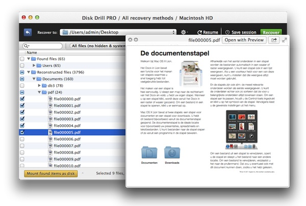 how to open files in preview mac